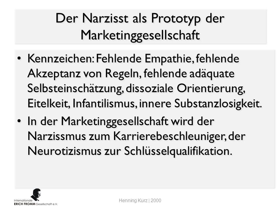Der Narzisst als Prototyp der Marketinggesellschaft