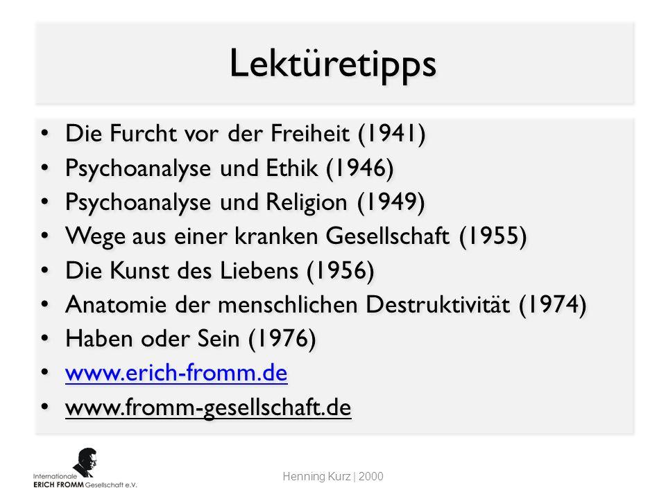 Lektüretipps Die Furcht vor der Freiheit (1941)
