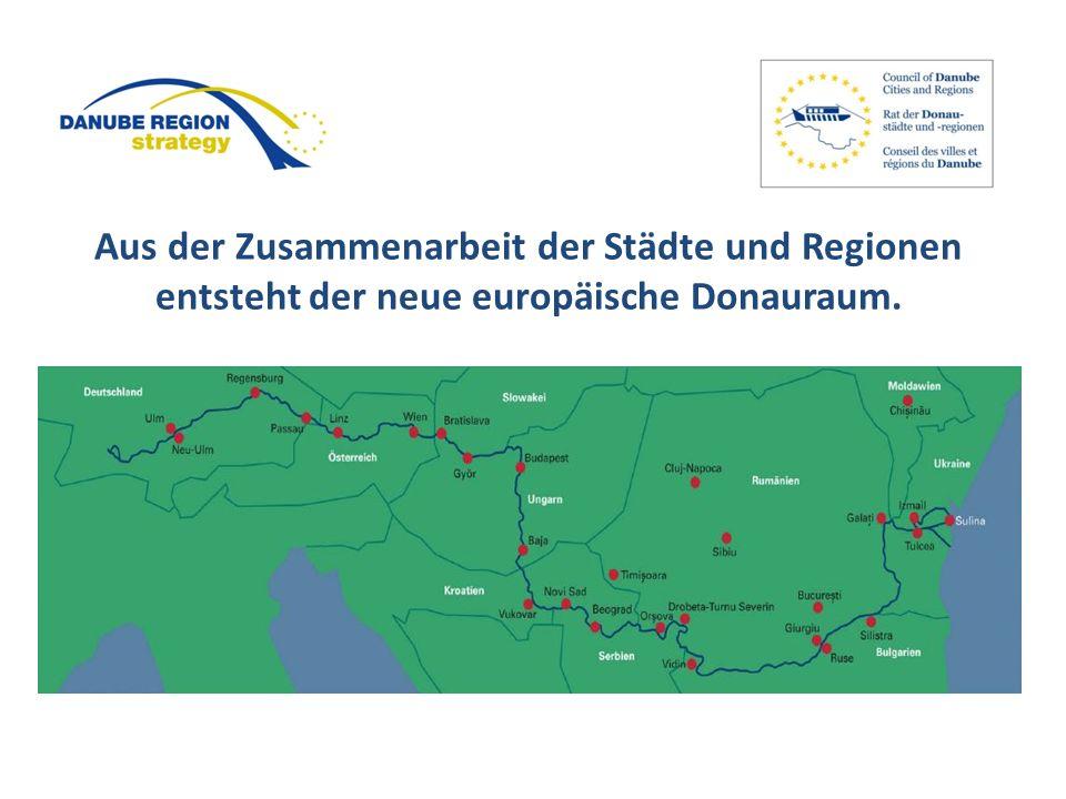 Aus der Zusammenarbeit der Städte und Regionen entsteht der neue europäische Donauraum.