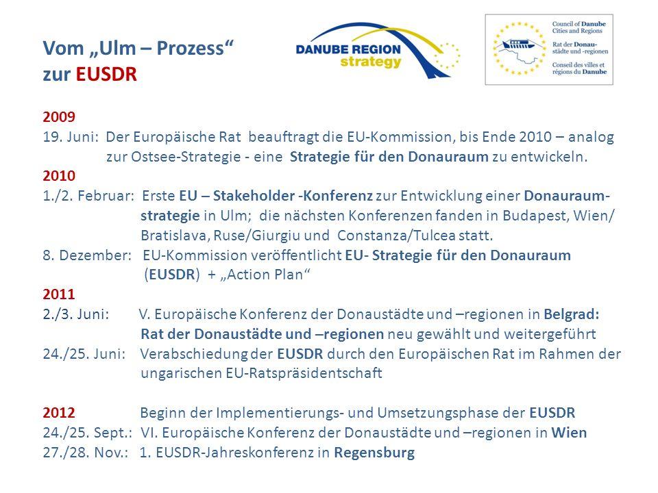 """Vom """"Ulm – Prozess zur EUSDR 2009"""