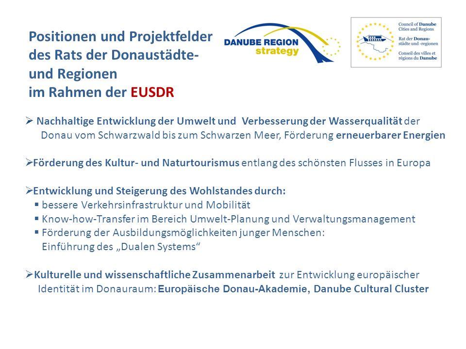 Positionen und Projektfelder des Rats der Donaustädte- und Regionen