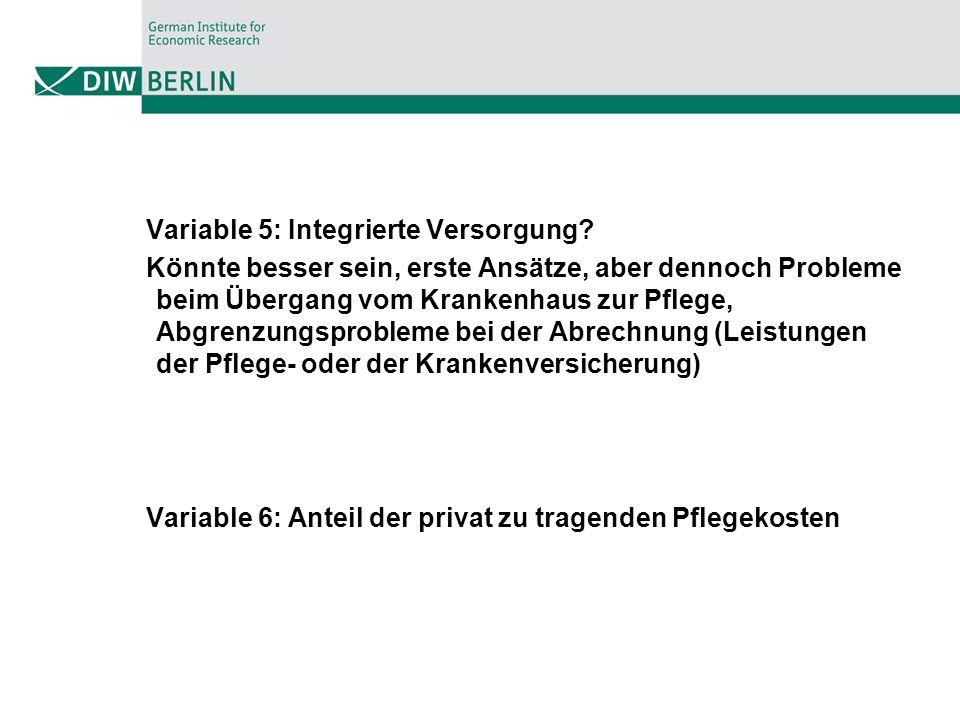 Variable 5: Integrierte Versorgung