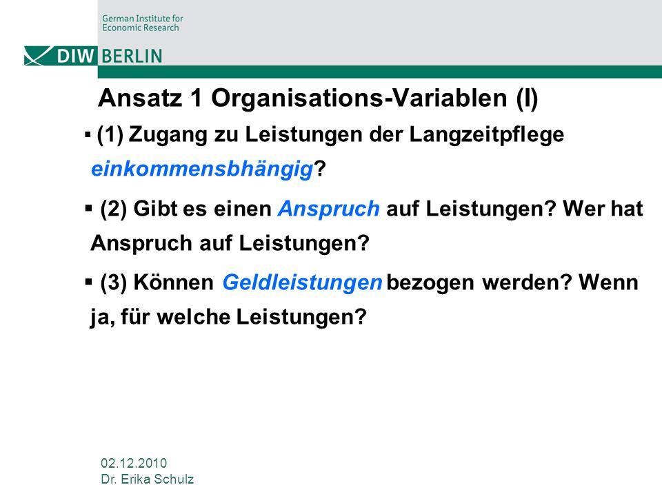 Ansatz 1 Organisations-Variablen (I)