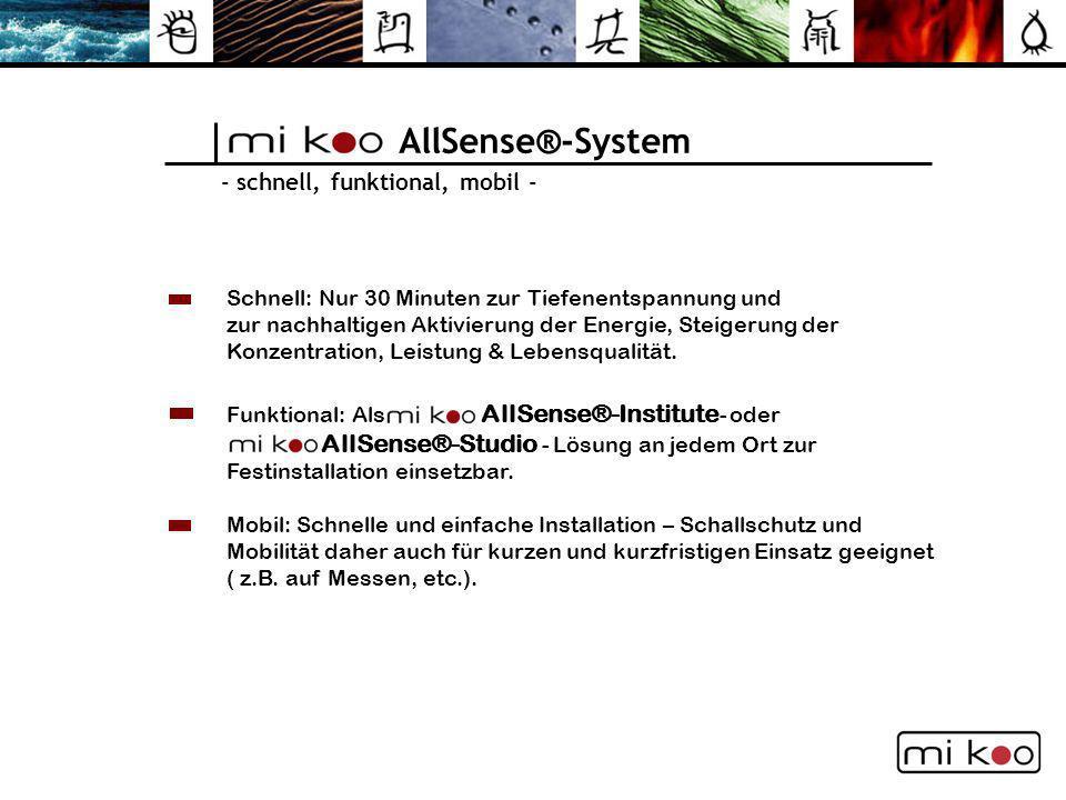 AllSense®-System AllSense®-Studio - Lösung an jedem Ort zur