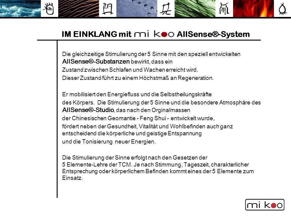 IM EINKLANG mit AllSense®-System