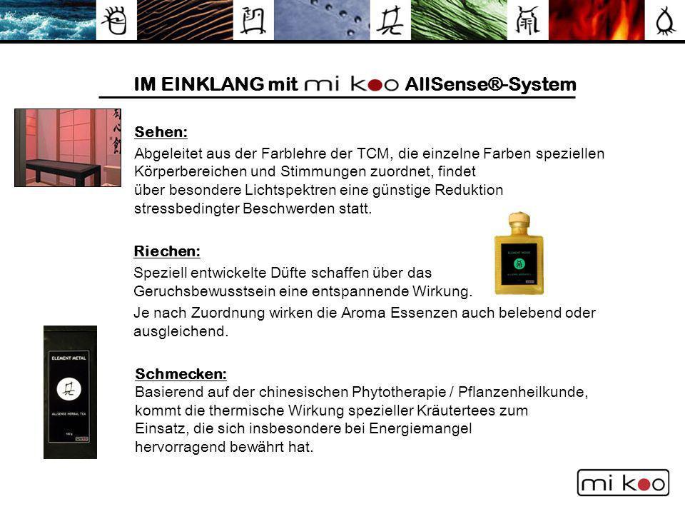 IM EINKLANG mit AllSense®-System Sehen: