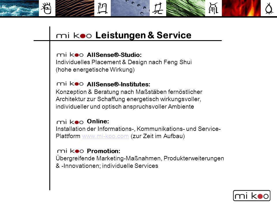 Leistungen & Service AllSense®-Studio: Individuelles Placement & Design nach Feng Shui (hohe energetische Wirkung)