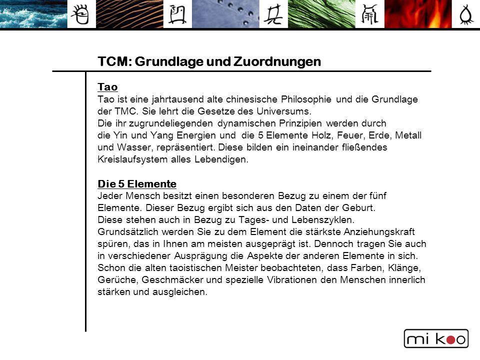 TCM: Grundlage und Zuordnungen
