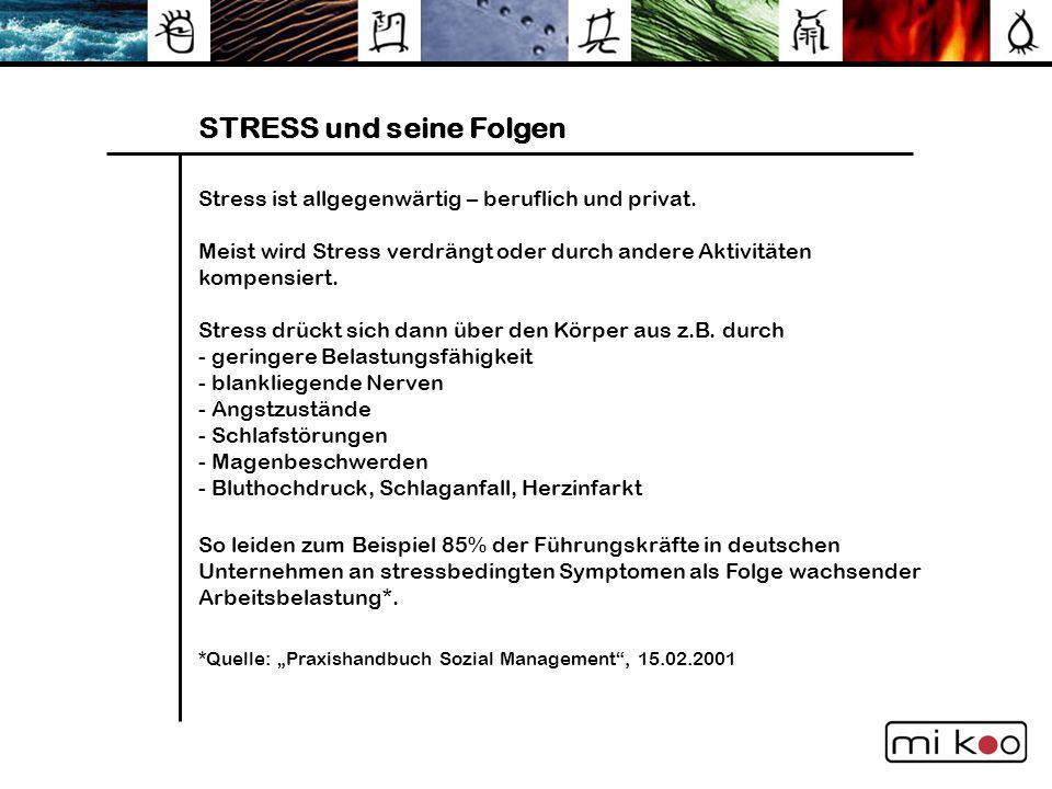 STRESS und seine Folgen