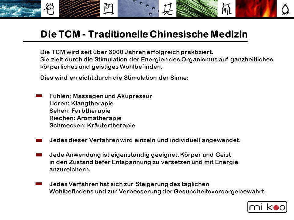 Die TCM - Traditionelle Chinesische Medizin