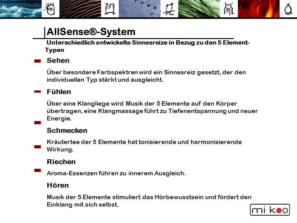 AllSense®-System Sehen Fühlen Schmecken Riechen Hören