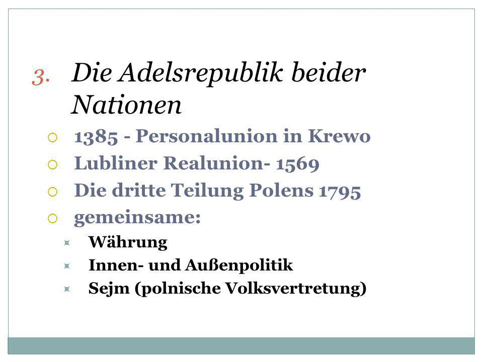 Die Adelsrepublik beider Nationen