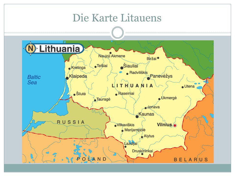 Die Karte Litauens