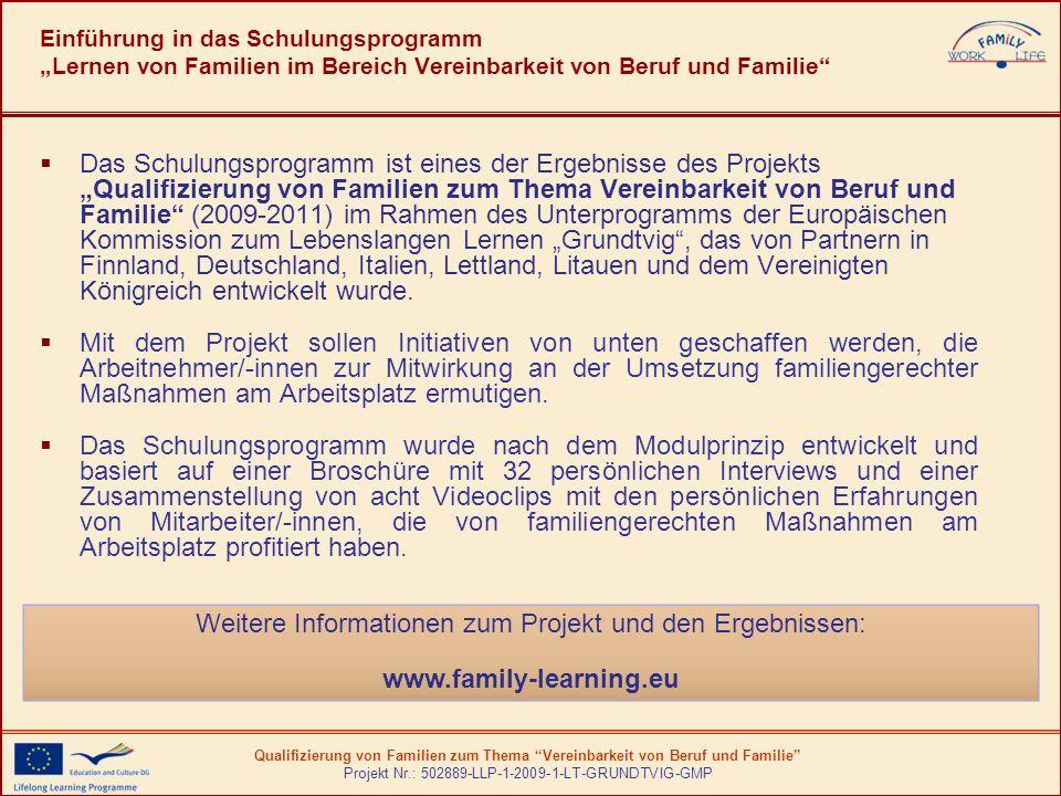 Weitere Informationen zum Projekt und den Ergebnissen: