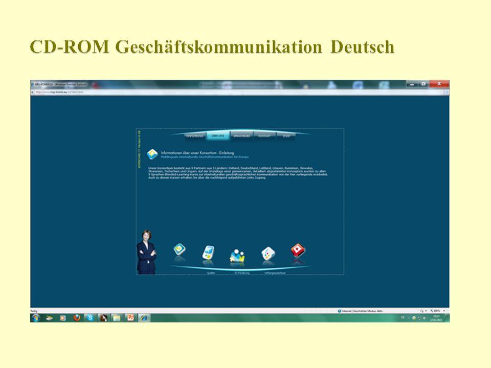 CD-ROM Geschäftskommunikation Deutsch