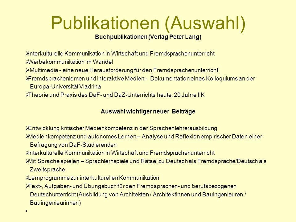 Publikationen (Auswahl)