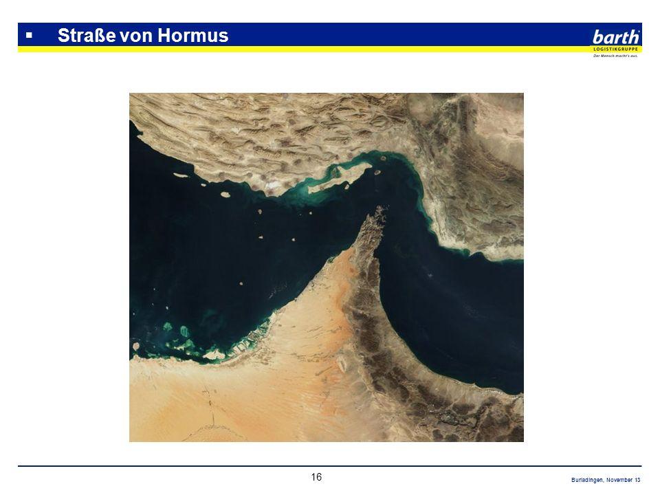 Straße von Hormus Ca. ¼ der globalen Ölversorgung (40%)