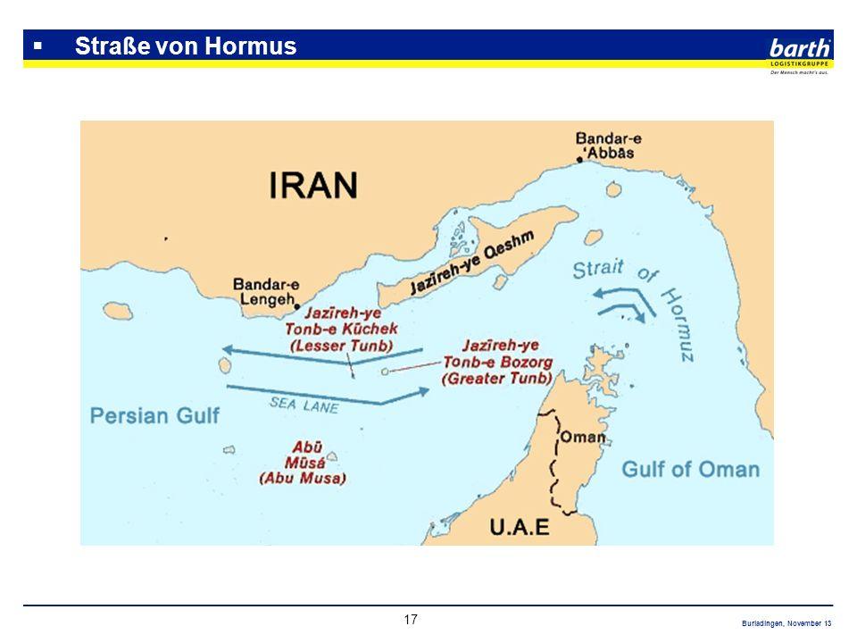 Straße von Hormus wichtigstes Nadelöhr für den Ölexport nach Japan, den USA und Westeuropa