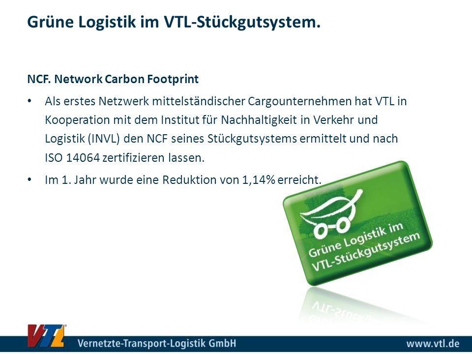 Grüne Logistik im VTL-Stückgutsystem.