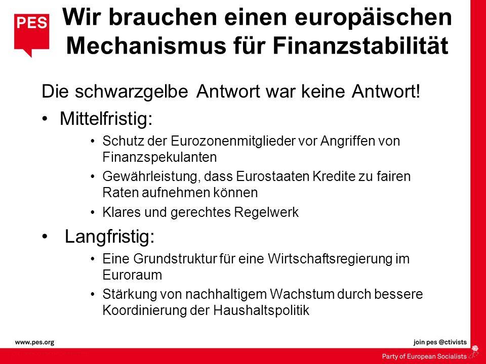 Wir brauchen einen europäischen Mechanismus für Finanzstabilität