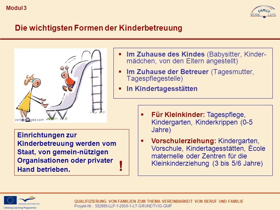! Die wichtigsten Formen der Kinderbetreuung