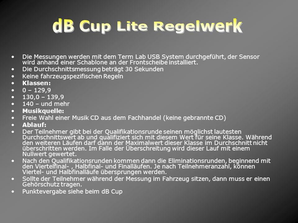 dB Cup Lite Regelwerk
