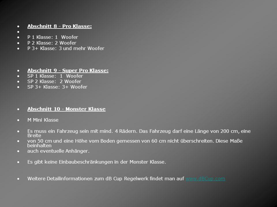Abschnitt 8 - Pro Klasse:
