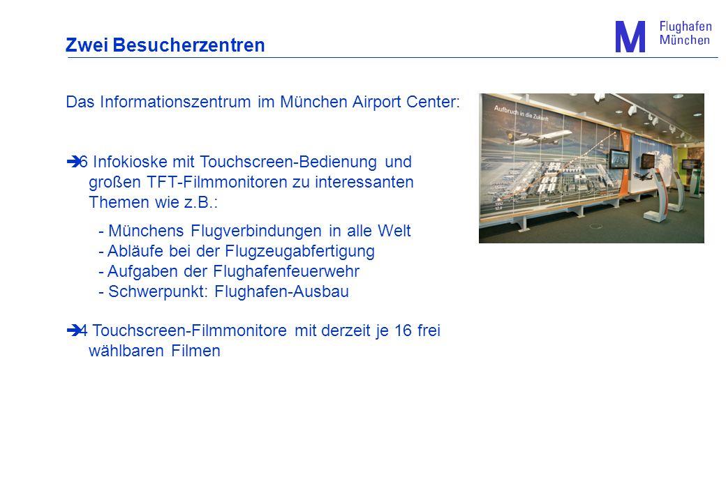 Zwei Besucherzentren Das Informationszentrum im München Airport Center: