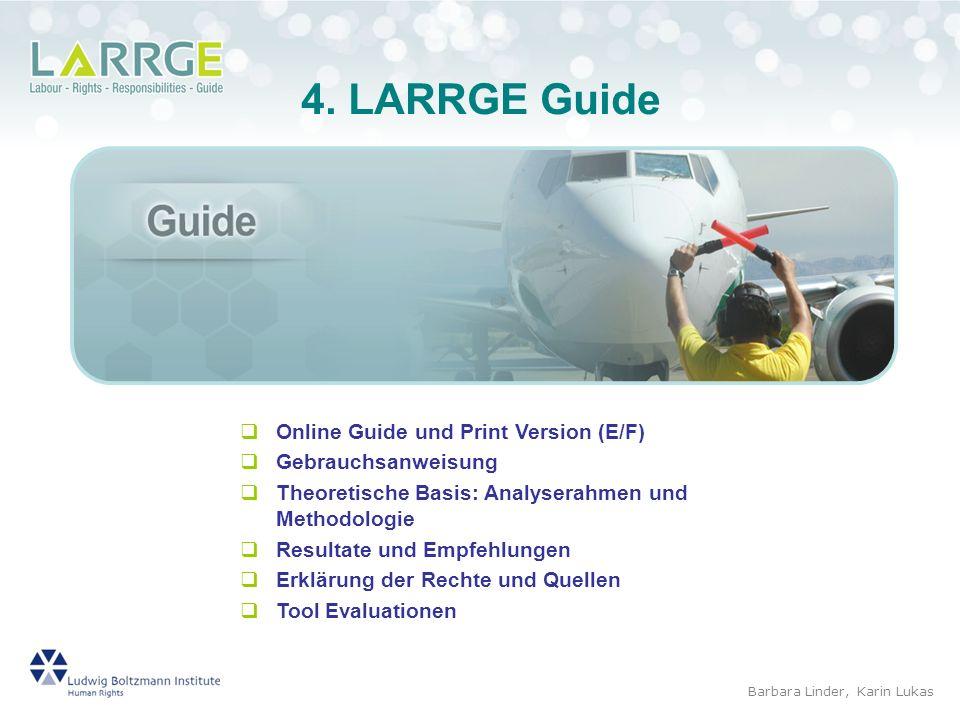 4. LARRGE Guide Online Guide und Print Version (E/F)
