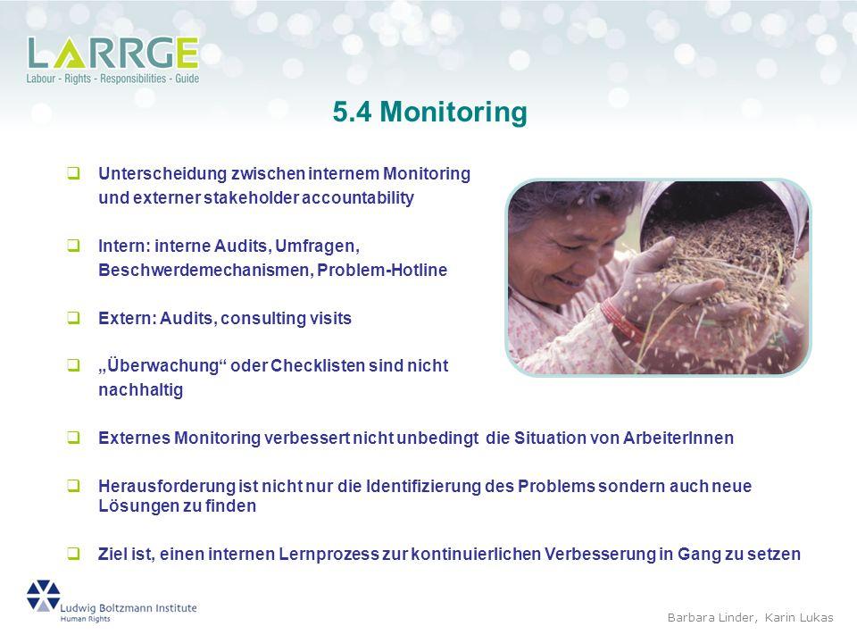 5.4 Monitoring Unterscheidung zwischen internem Monitoring