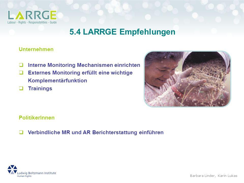 5.4 LARRGE Empfehlungen Unternehmen