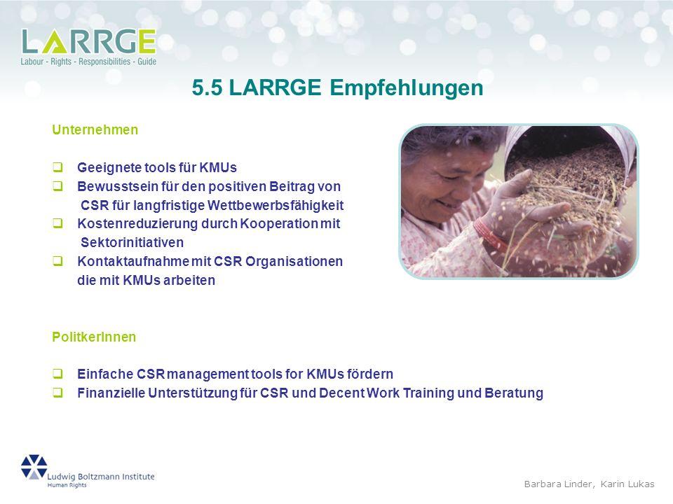 5.5 LARRGE Empfehlungen Unternehmen Geeignete tools für KMUs