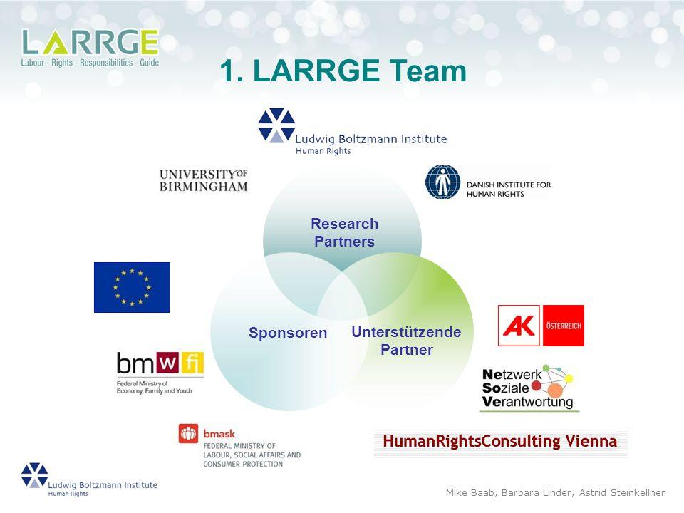 1. LARRGE Team Mike Baab, Barbara Linder, Astrid Steinkellner