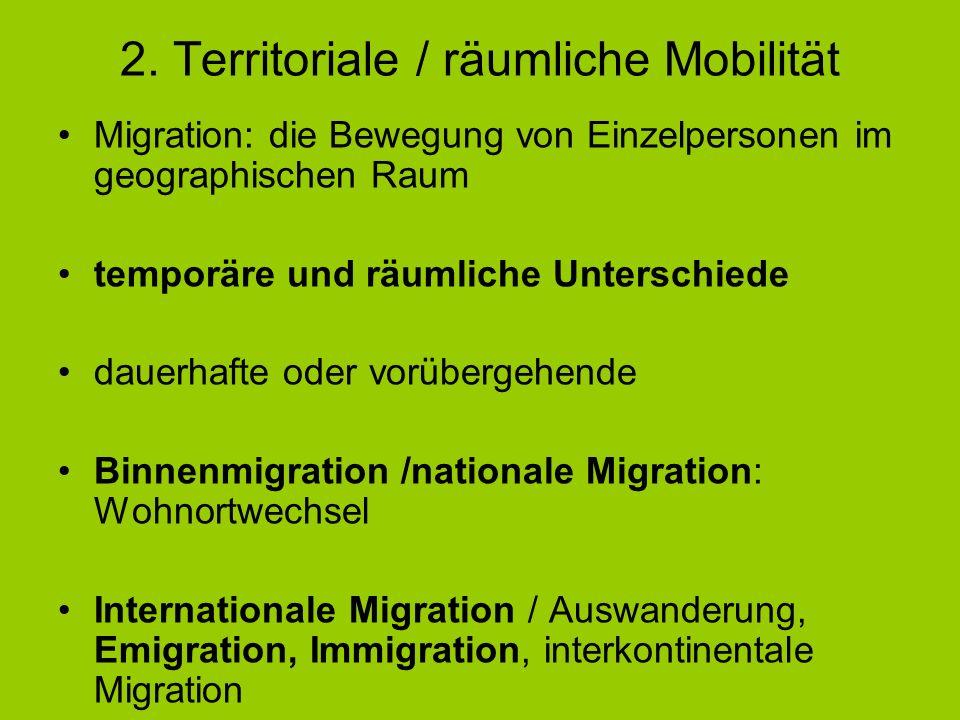 2. Territoriale / räumliche Mobilität