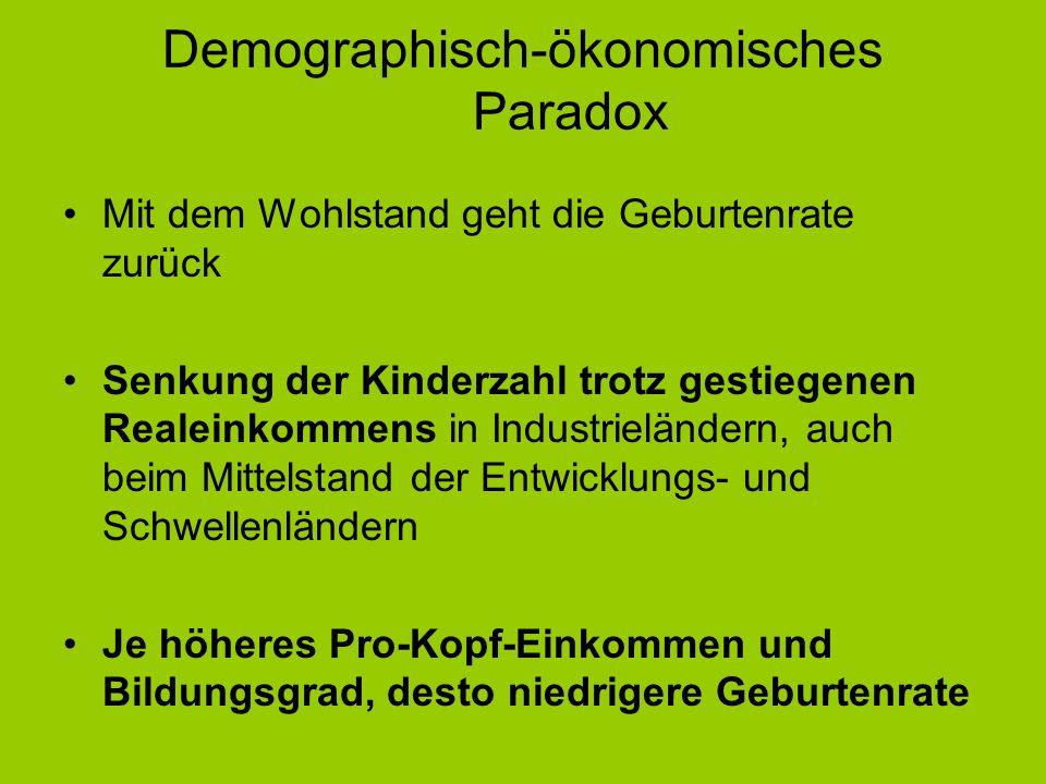 Demographisch-ökonomisches Paradox