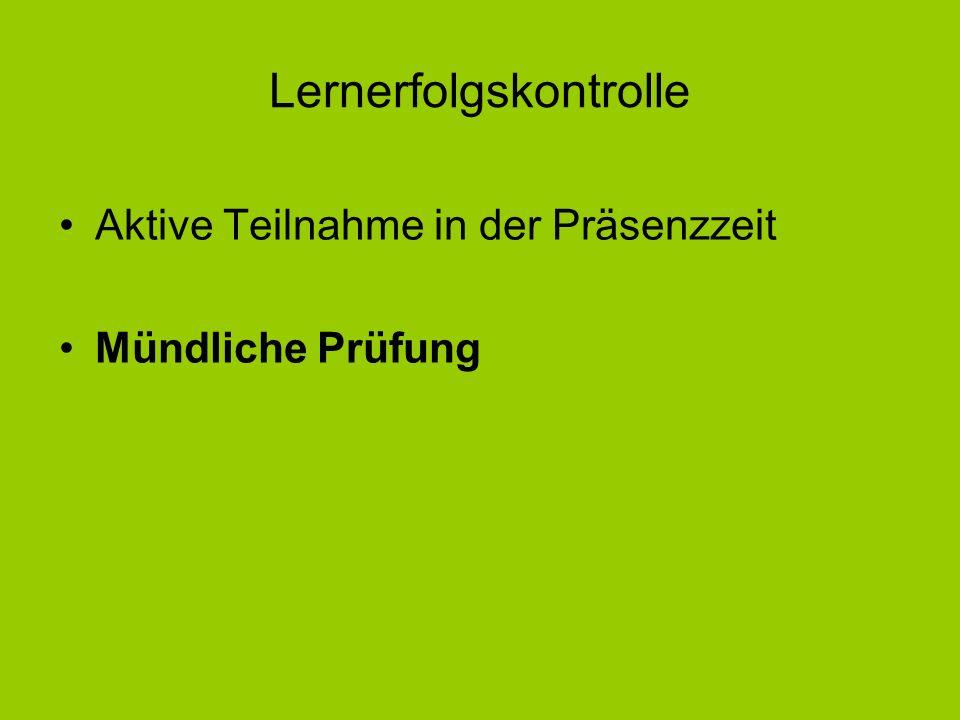 Lernerfolgskontrolle