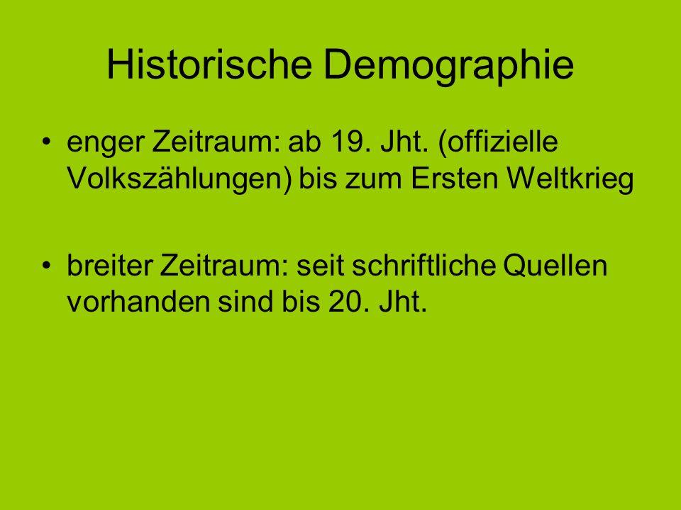 Historische Demographie