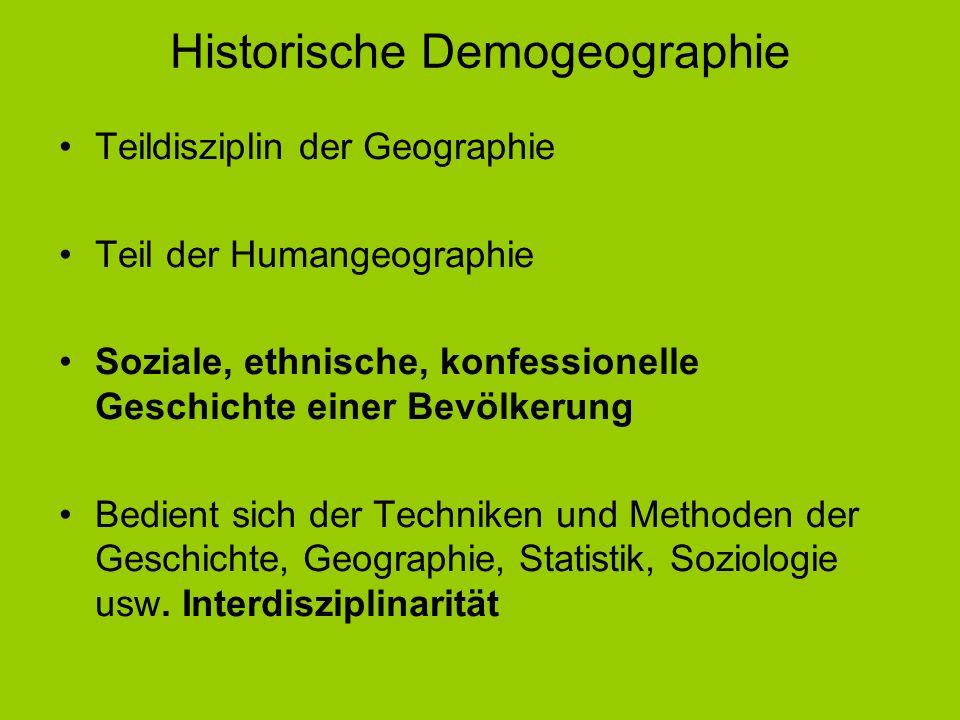 Historische Demogeographie