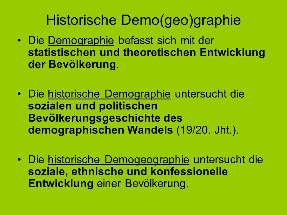 Historische Demo(geo)graphie