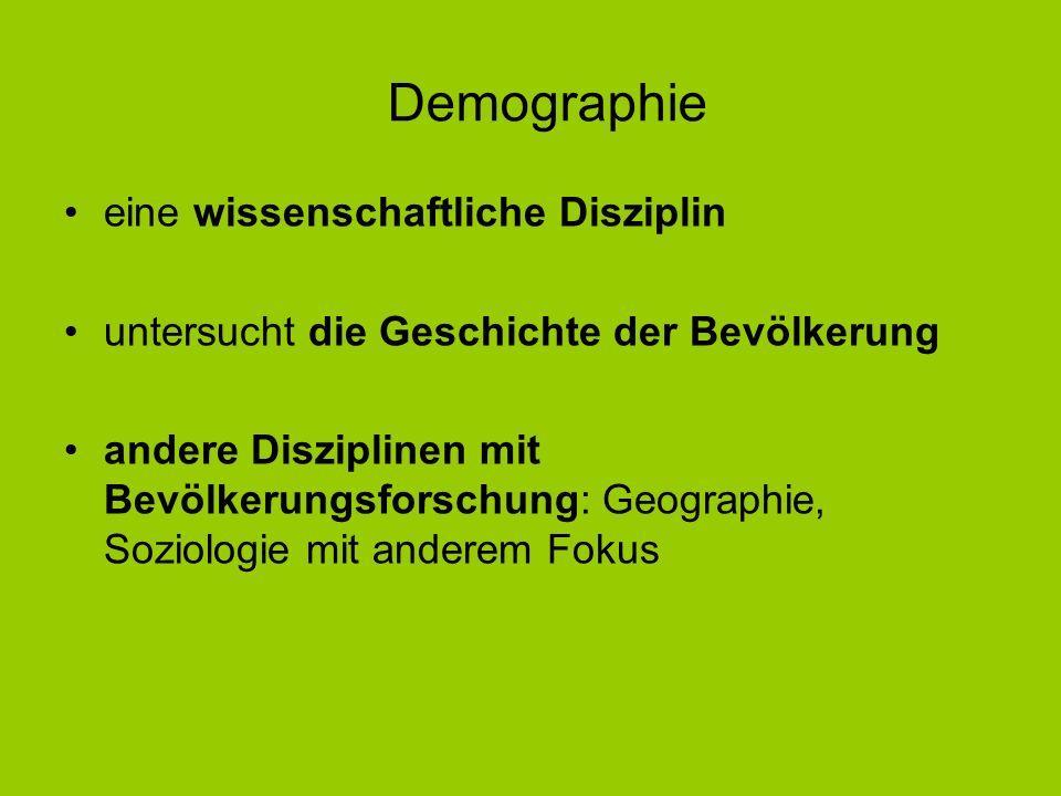 Demographie eine wissenschaftliche Disziplin