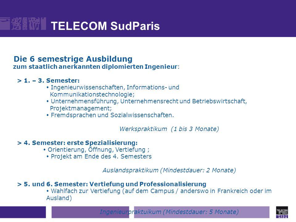 TELECOM SudParis Die 6 semestrige Ausbildung