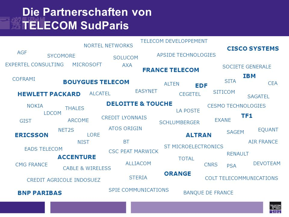 Die Partnerschaften von TELECOM SudParis