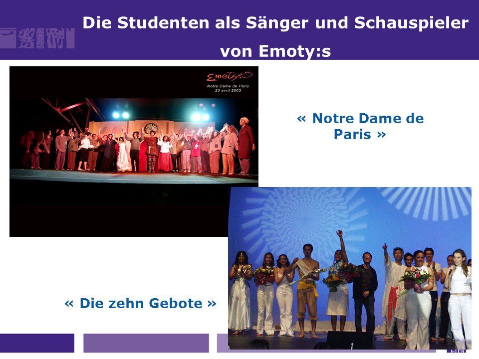 Die Studenten als Sänger und Schauspieler