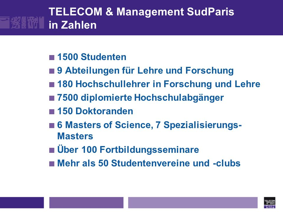 TELECOM & Management SudParis in Zahlen