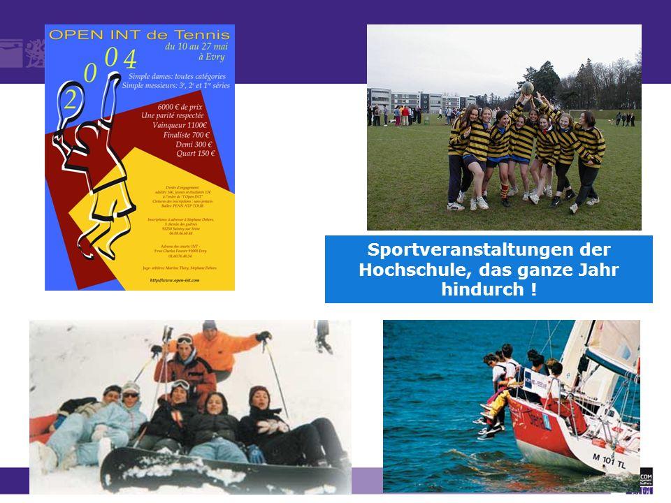 Sportveranstaltungen der Hochschule, das ganze Jahr hindurch !