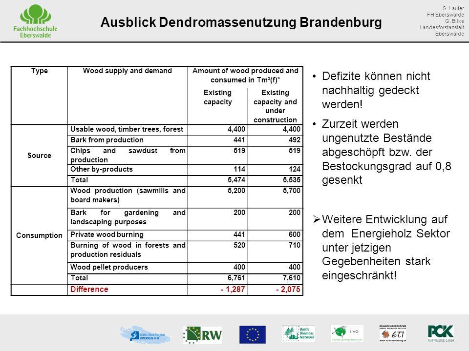 Ausblick Dendromassenutzung Brandenburg