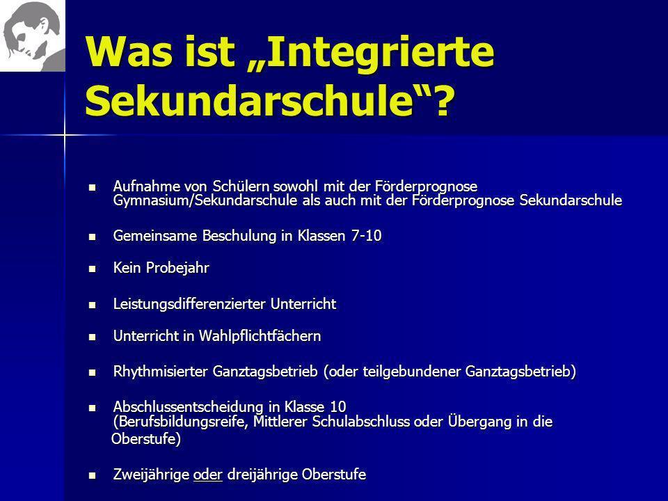 """Was ist """"Integrierte Sekundarschule"""