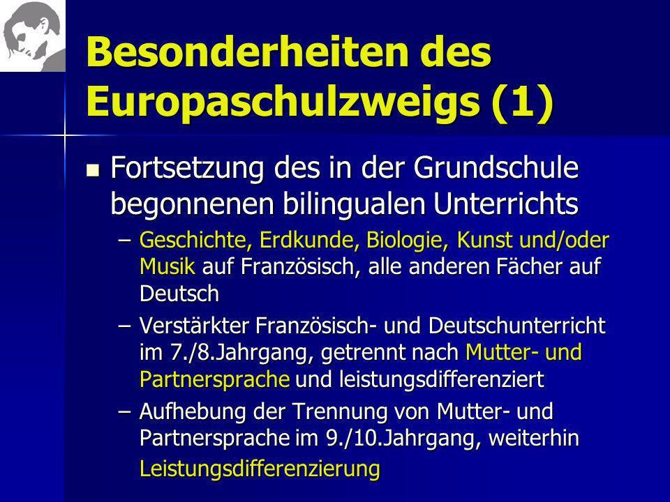 Besonderheiten des Europaschulzweigs (1)
