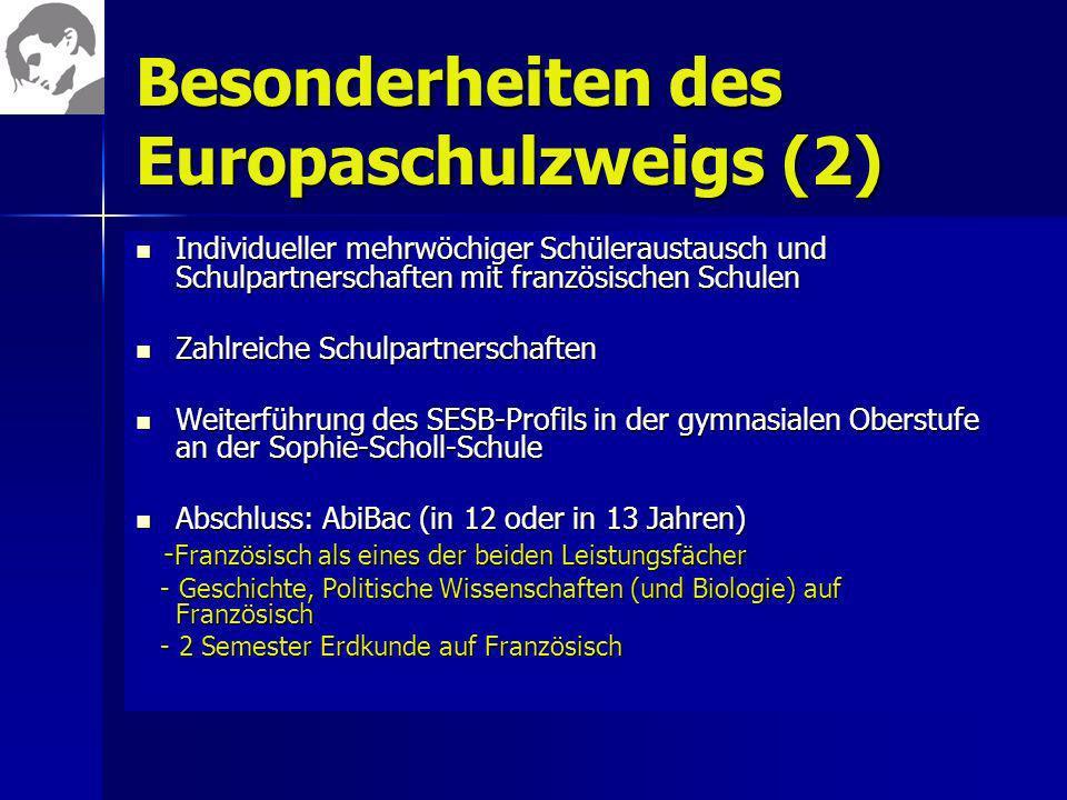 Besonderheiten des Europaschulzweigs (2)