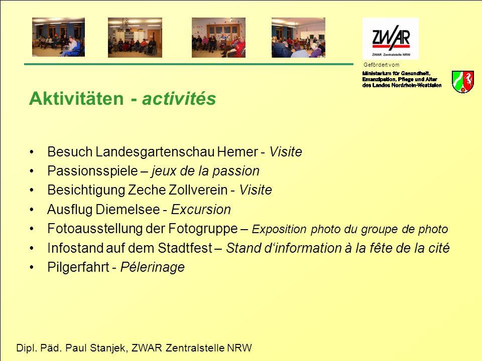 Aktivitäten - activités